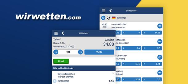 WirWetten App für Sportwetten