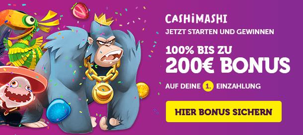 Cashi Mashi Casino Bonus für Neukunden
