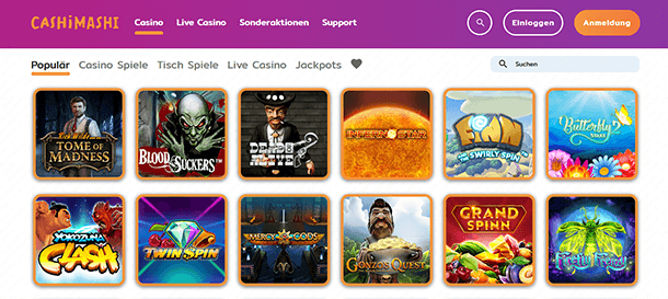 Cashi Mashi Casino Spiele
