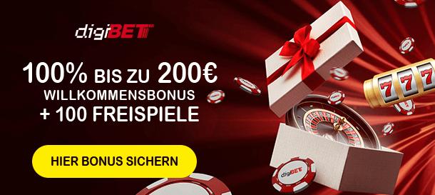 Digibet Casino Bonus für Neukunden