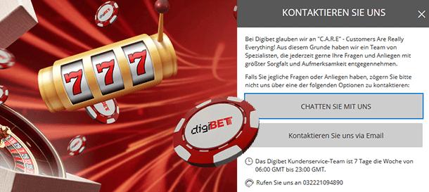 Digibet Casino Kundensupport