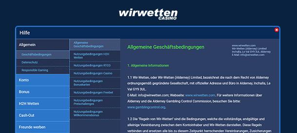 WirWetten Casino Support