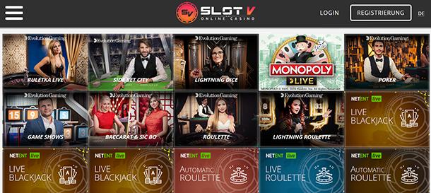 SlotV Casino Live Casino