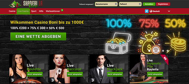 Shangri La Live Casino Livecasino
