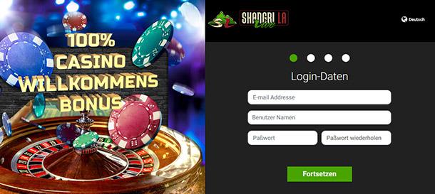 Shangri La Live Casino Anmeldung