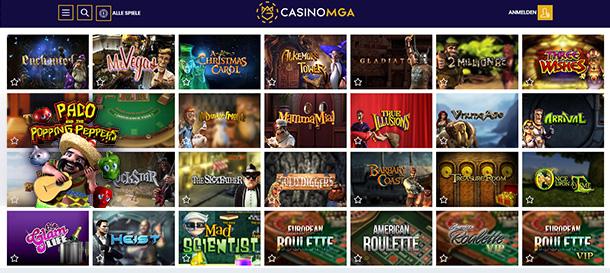 CasinoMGA Spiele