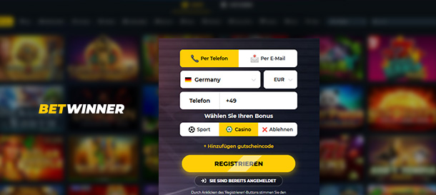 Betwinner Casino Registrierung