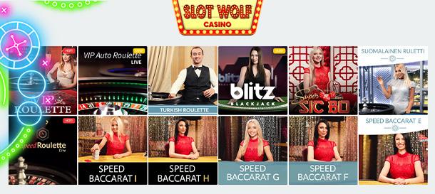 SlotWolf Casino Livecasino