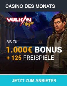 Vulkan Vegas bis zu 1.000€ Bonus + 125 Freispiele