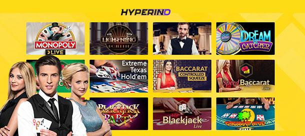 Hyperino Live-Casino