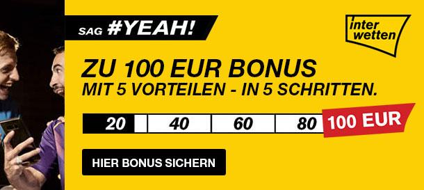 Interwetten 100 Euro Bonus Sport