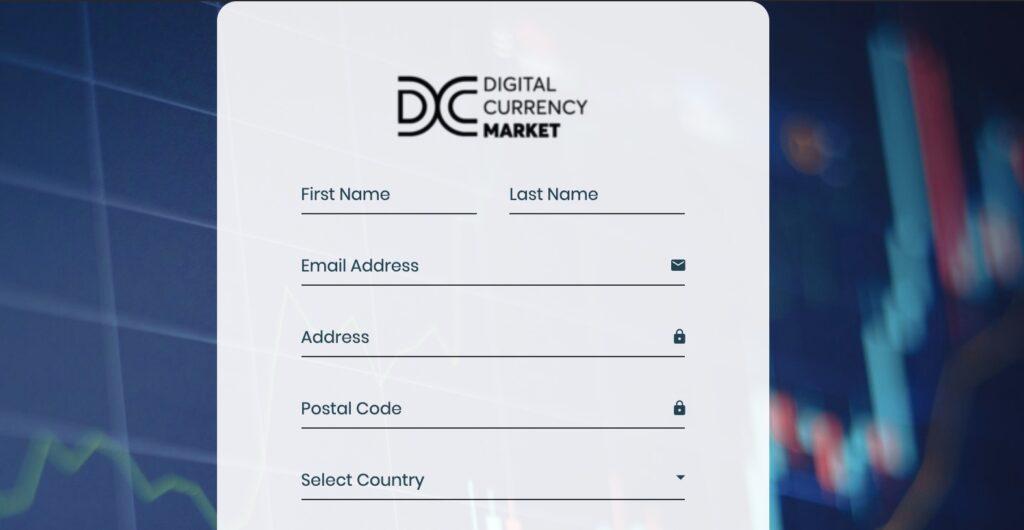 Digital Currency Market Registrierung
