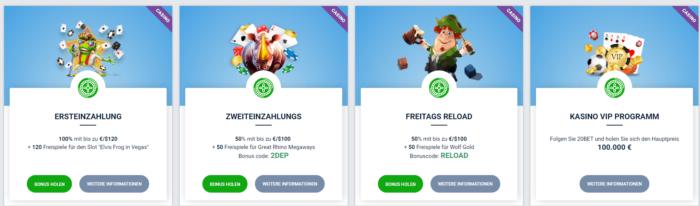 20bet Casino Bonus Codes