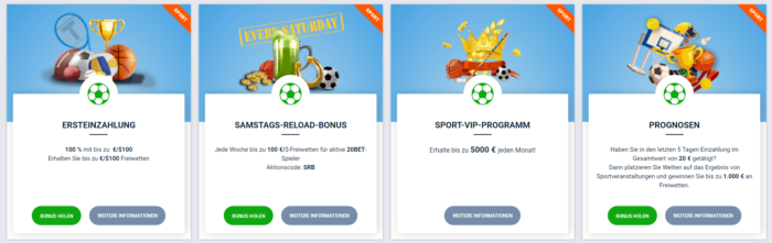 20bet Sports Bonus Code