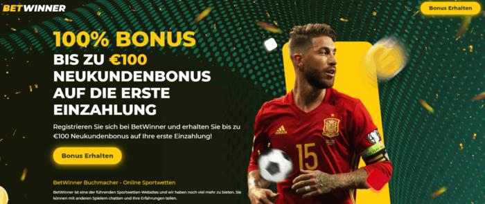 Betwinner 100 Euro Bonus