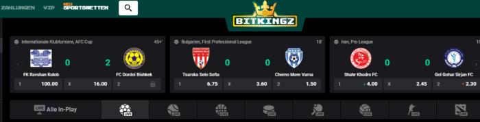 Bitkingz Sports Live Spiele