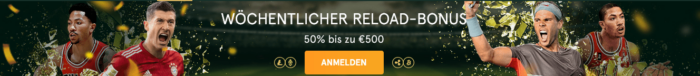 Casinia Reload Bonus
