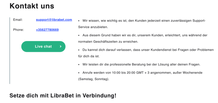 Librabet Support