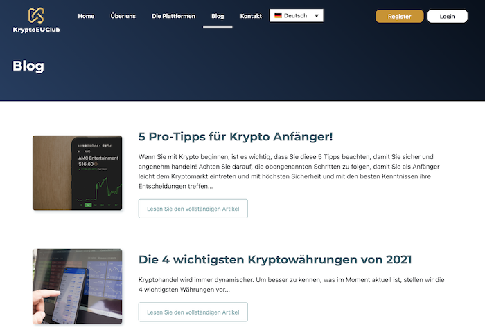 Der hauseigene Blog von KryptoEUClub