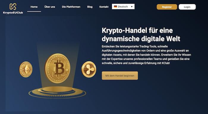 Die Homepage von KryptoEUClub