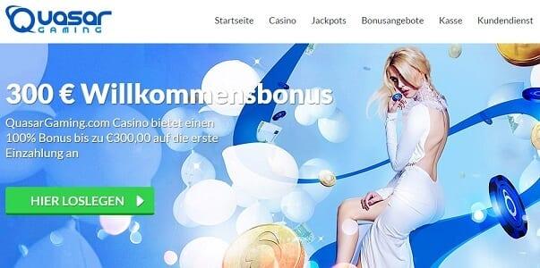 Attraktiver Neukundenbonus bis zu 200 Euro bei Quasar Games