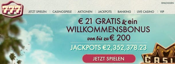 Im 777 Casino No Deposit Casino kassieren
