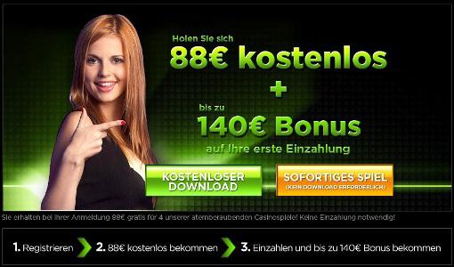 88 Euro Bonus ohne Einzahlung im 888Casino