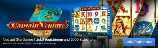 Stargames Neukundenbonus von 100 Prozent