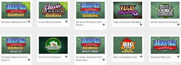 EuroPalace Black Jack: 44 Varianten