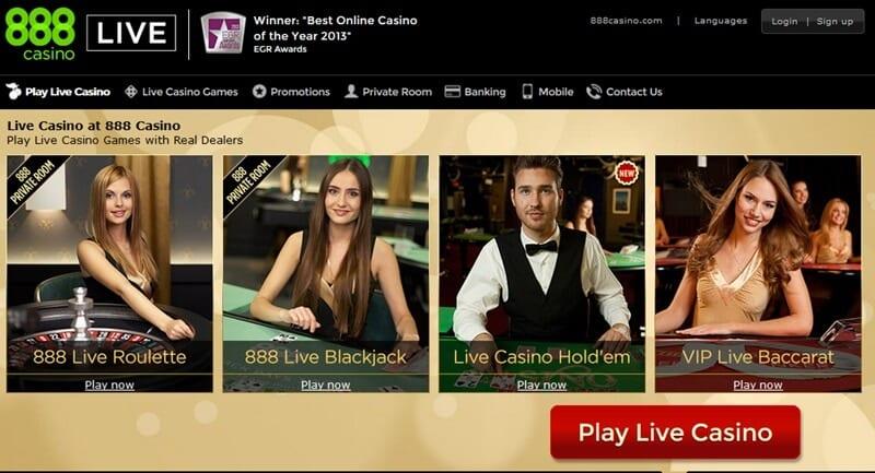 Screenshot Live-Spiele 888 Casino