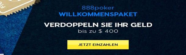Poker Bonus bei 888 Poker: Guthaben Verdoppeln mit Willkommenspaket