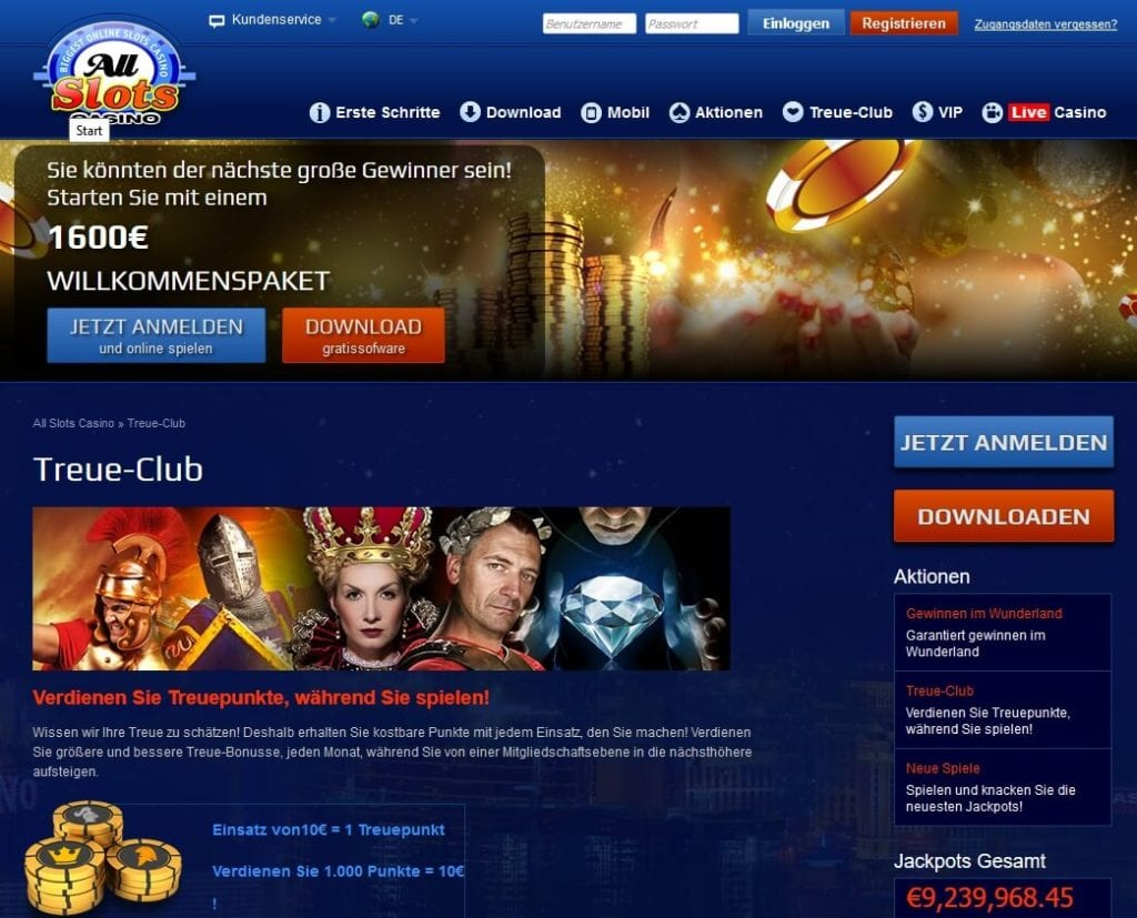 Screenshot All Slots Casino Bonusclub