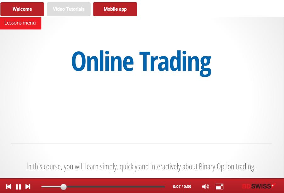 Online Training für Online Trading
