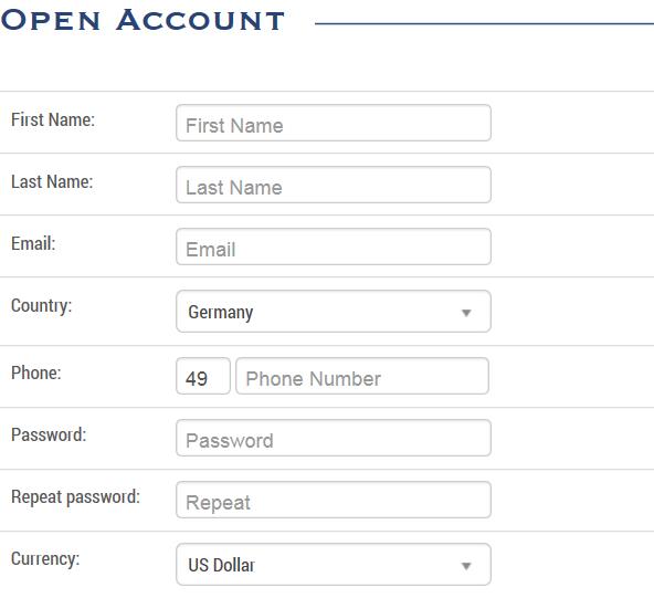 Banc de Binary Account eröffnen