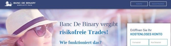 Kostenloses Konto bei der Banc de Binary