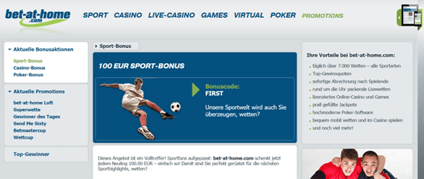 bet-at-home Neukundenbonus
