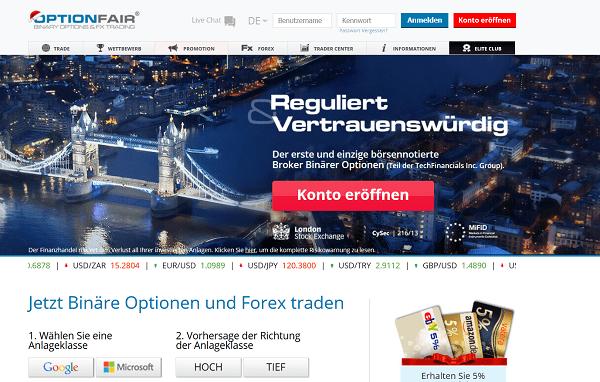Binäre Optionen Broker in Deutschland