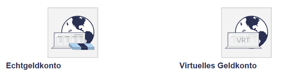 Echt oder virtuell: Zwei Konto-Möglichkeiten bei Binary.com