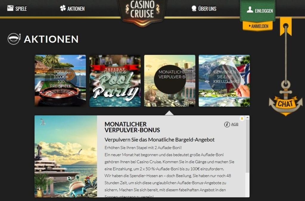 Screenshot Reload Bonus Casino Cruise