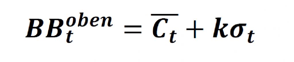 Die allgemeine Formel für das obere Bollinger Band