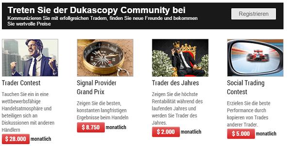 Auszahlungen Dukascopy Community
