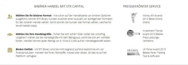 ETX Capital auf einen Blick