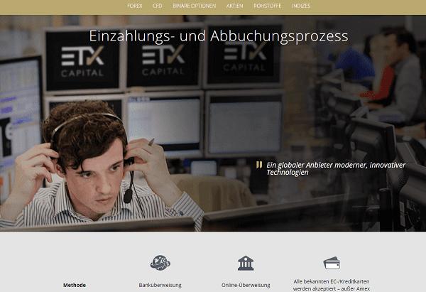 ETX Capital Einzahlungen PayPal