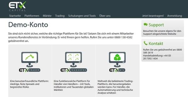ETX Capital Erfahrungen Demokonto