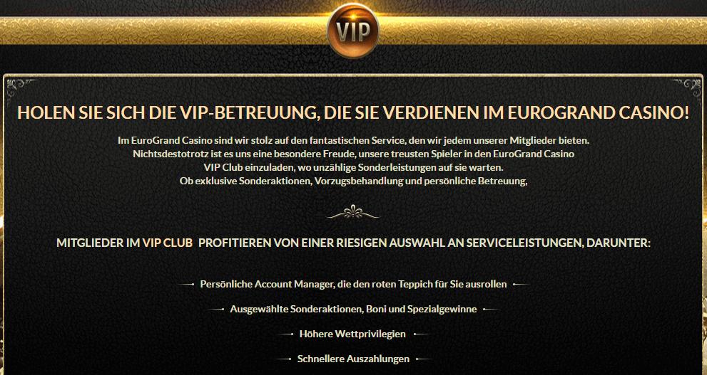 EuroGrand VIP Mitglied Service