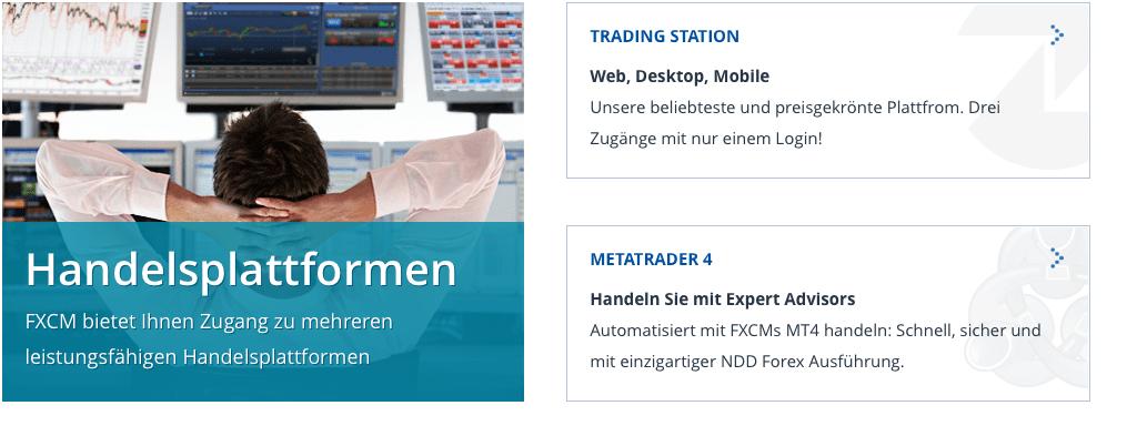FXCM Plattformen