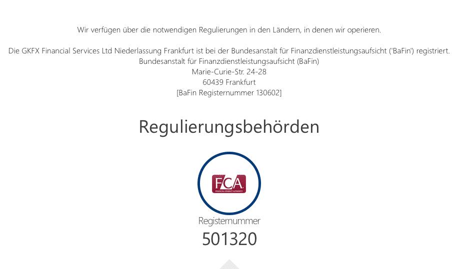 GKFX Regulierung