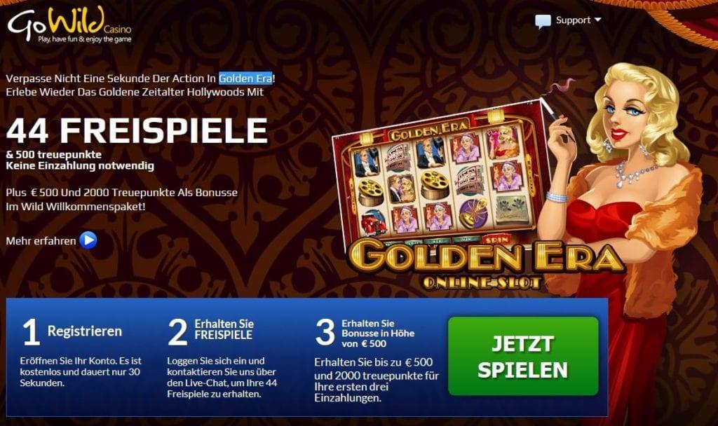 Go Wild Casino Aktionscode