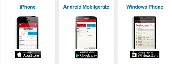 IG Binäre Optionen App