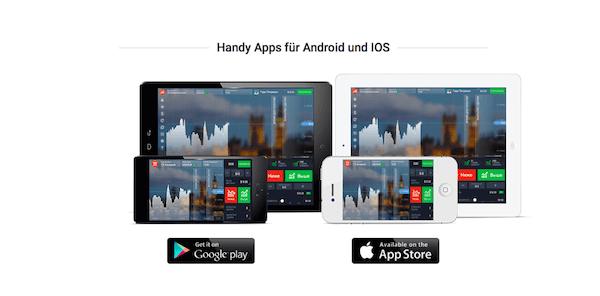 IQ Option App für Android und Apple
